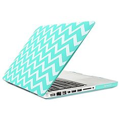 TopCase Chevron Series Hot Blue / Turquoise Ultra Slim Light Weight Rubberized Hard Case Cover for Macbook Pro 13 or without Thunderbolt) - Not for Retina Display - with TopCase Chevron Mouse Pad Apple Laptop Macbook, Macbook Pro 13 Case, Macbook Pro 13 Inch, New Macbook, Aqua Blue, Keyboard Cover, Laptop Covers, Macbook Pro A1278, Computers