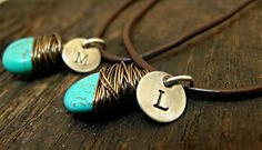 Hand Stamped His & Hers Sterling Silver by OrganicRustCreation, $54.00