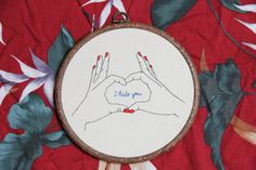 Love is in the air  embroidery by ItFilsGood on Etsy