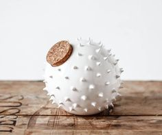 Spiky Ceramic Blowfish Bank