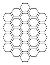 Use the printable outline for crafts, creating stencils, scrapbooking, and more. Free PDF template to… Stencil Templates, Stencil Designs, Bee Template, Printable Stencil Patterns, Painting Templates, Free Stencils, Carving Designs, Bee Art, Honeycomb Pattern