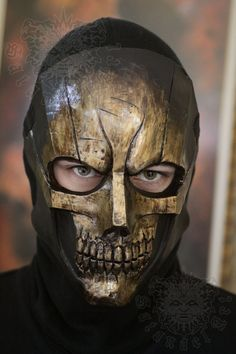 Golden Skull by SatanaelArt on Etsy, $80.00
