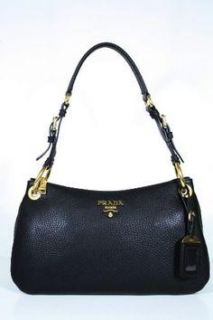 ca931c6632bb Prada hangbags Black Leather - This authentic Prada Black Leather Handbag  comes directly from designer boutiques - Prada Black Leather- Top Zipper  closure ...