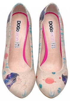 DOGO High-Heels - galaxy hair #dogogermany #printedshoes #print