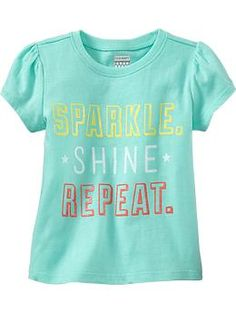 Puff-Sleeeve Graphic Tees for Baby (Old Navy)