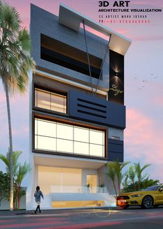 Commercial, Exterior, House Design, 3d, Architecture, Arquitetura, Outdoor Rooms, Architecture Design, Architecture Design