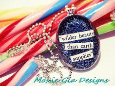 Wilder beauty than earth supplies resin pendant by MoxieGiaDesigns, $12.00 fashion-hair-makeup