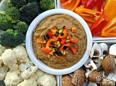 Caramelized Onion Hummus – Low Carb, Paleo, Gluten Free, Dairy Free
