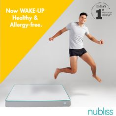 Don't wake up in a puddle of dust mites and allergic substances. Switch to Nubliss- a revolutionary mattress that is designed to resist dust mites and is hypoallergenic. Experience the #Powerwakeup with #Nubliss #Mattress #FirstTimeinIndia #CoolingGel #Memoryfoam #MattressInABox #Hypoallergenic #Orthopedic # WakeUp #Comfort #Morning #Mattress #Mattresses #MemoryFoam #Bed #NublissSleep #Health #Goodnight #Sleep #NublissMattress #Thursday #ThursdayMotivation #ThursdayMorning #ThursdayNight…