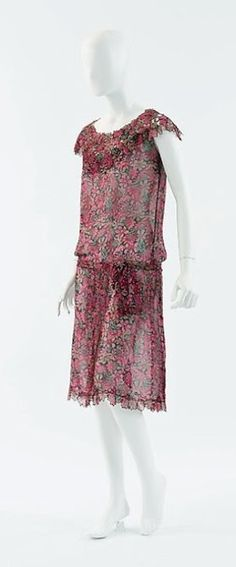 1929 Chanel - Design by Gabrielle 'Coco' Chanel - Silk and wool dress - The Metropolitan Museum of Art