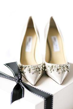 Rhinestone Jimmy Choos: http://www.stylemepretty.com/2014/09/29/classic-wedding-by-rock-paper-scissors-events/ | Photography: Ayenia Nour - http://www.ayenianour.com/
