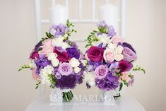 lumanari nunta scurte Bridal Wedding Dresses, Purple Wedding, Floral Wedding, Wedding Bouquets, Our Wedding, Wedding Flowers, Dream Wedding, Diy Wedding Decorations, Flower Art