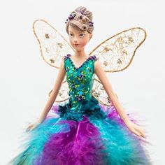 Peacock Angel Fairy Christmas Tree Topper Decoration (18 cms) by Gisela Graham