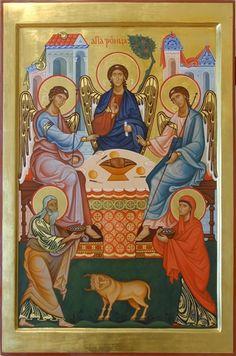 Icon of Holy Trinity. 2010 Olga Shalamova