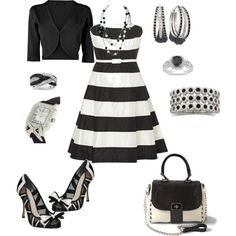 black and white, created by wendyfer on Polyvore