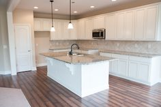 The kitchen of the Westmont II floor plan by Ball Homes.