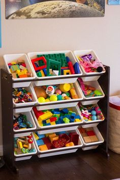 Toy storage ideas living room for small spaces. Learn how to organize toys in a small space, living room toy storage furniture, and DIY toy storage ideas. Pool Toy Storage, Large Toy Storage, Outdoor Toy Storage, Kids Bedroom Organization, Playroom Storage, Toy Organization, Bathroom Storage, Playroom Ideas, Organizing Ideas