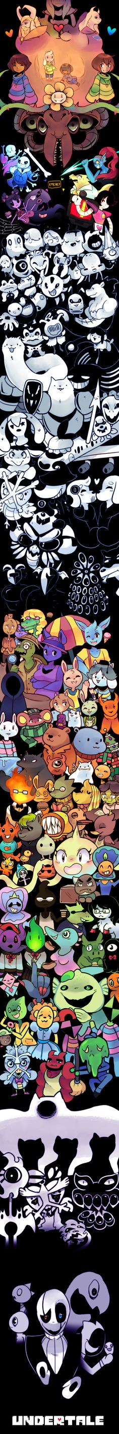 (∩ ͡° ͜ʖ ͡°)⊃━☆゚. * ・ 。゚ undertale || all characters; pacifist, neutral & genocide