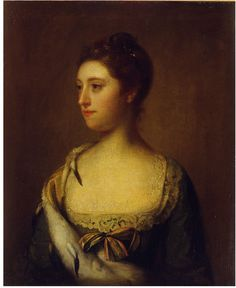 Mrs Everard, painted by Allan Ramsay, Oil on canvas, late 18th century. Given by William Freeman