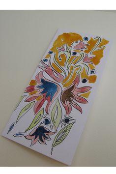 Hand made watercolor greeting birthday card.  #birthday #Christmas #NewYear