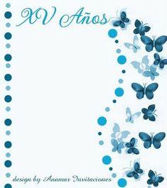 Anamar Invitaciones: Fondo Mariposas Caligraphy Alphabet, Alphabet Art, Album Vintage, Butterfly Invitations, Bujo Doodles, Notebook Art, Binder Organization, Quinceanera Invitations, Vintage Labels