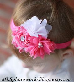The Pink Picnic Headband  Baby Girl Bright by MLSPhotoWorksShop, $6.75