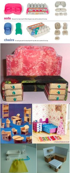 cardboard dollhouse furniture