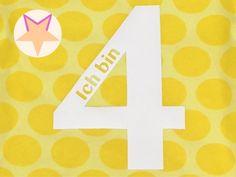 Bügelbild *Ich bin 4* von Moly's Zauberwelt auf DaWanda.com