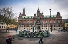 Malmo has two distinct districts, the old town which is not very traditional or conventional in the sense of old European towns. Old Town, Adventure Travel, Barcelona Cathedral, Sweden, Places Ive Been, Old Things, Louvre, Europe, Summer