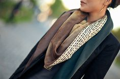 Patterns :: Triangle Scarf - love these colors