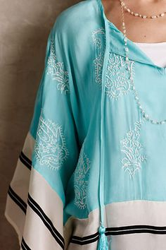 I'll take one in each color!! Sunglow Caftan - anthropologie.com