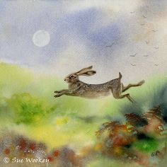 'Leaping Hare' by Sue Wookey. http://galleyhillart.blogspot.co.uk/