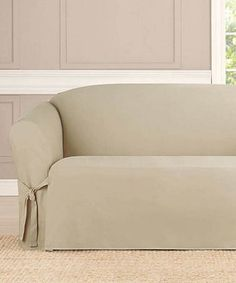 Look what I found on #zulily! Taupe Furniture Slipcover #zulilyfinds