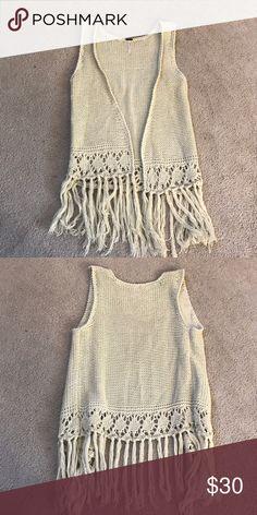 TAKING $15!! Crochet Vest Good Condition! Poof! Jackets & Coats Vests