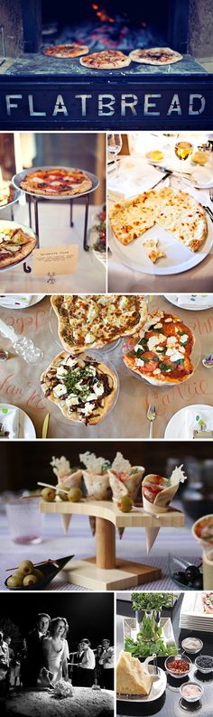 "Pizza is always a great addition to any event. I'm partial to ""make your own pizza"" stations."