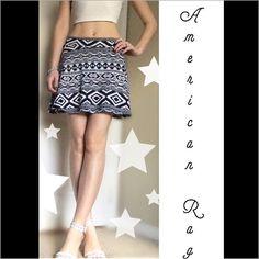 American Rag printed skater skirt *NWOT* Beautiful printed skirt with black & white geometric detail. Skirt length ~15.5 inches. By American Rag American Rag Skirts Circle & Skater