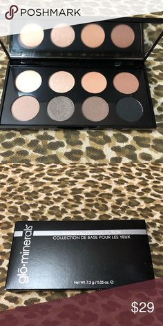 Glow minerals eyeshadow palette Personalize your color play with vibrant mattes and metallic infused with vitamins C, E, and green tea extract, these velvety high-pigmented mineral shadows offer long wearability and incredible dimension! glo minerals Makeup Eyeshadow