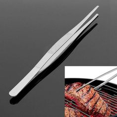 Food Barbecue Tongs Steel Churrasco Tweezers Clip Buffet BBQ Restaurant Tool New Buy Kitchen, Kitchen Tools, Kitchen Gadgets, Kitchen Grill, Bbq Accessories, Kitchen Accessories, Quick Fish, Barbecue, Bbq Tongs
