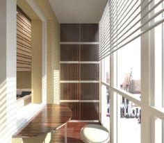 Дизайн балкона со шкафом