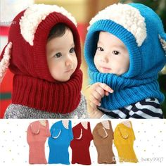2016 2016 New Korean Kids Neck Wrap Scarf Hats Set Fashion Baby Girls Boys Children Ear Knit Cap Hats Winter Warm Knitted Puppy Beanie From Betty9907, $8.95 | Dhgate.Com