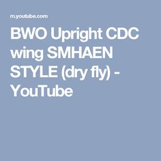 BWO Upright CDC wing SMHAEN STYLE (dry fly) - YouTube