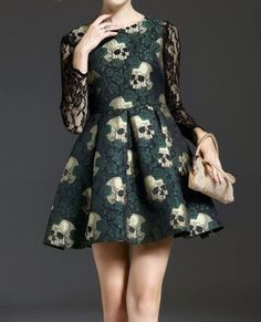 "the-shortest-alligator: ""skull print dress $38 """