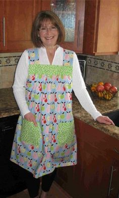 """I am an everyday apron wear-er.  These are my all time favorite aprons.  They are very different than any I've ever seen.  Check out the website for how they go """"on"""".  They will custom make them in fabric you like as well. If I won the lottery, these would be the first things I'd buy. P.S. A Great GIFT idea for Momma my dear children/husband, who always say they """"don't know what to buy me"""".  HINT! HINT!"""