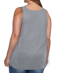 70b4ee4b856 Rotita Women Sleeveless Stars and Stripes Print Plus Size Tank Top Tunic  TShirt XXXXLarge Grey    Click image to review more details.