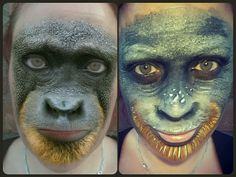 MSQRD FILTER Facepaint monkey