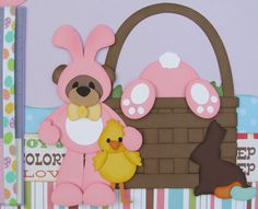 Hoppy Easter by DoodleBearBoutique    The bear bunnies frolick in the spring air, searching high and low for those sweet treats left by the