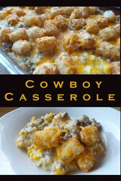 Cowboy Casserole Recipe: I added worcheshire sauce, parsley and chili powder to . Cowboy Casserole Recipe: I added worcheshire sauce, parsley and chili powder Healthy Potato Recipes, Sweet Potato Recipes, Mexican Food Recipes, Cauliflower Recipes, Dog Recipes, Comfort Food Recipes, Cauliflower Tots, Recipies, Chinese Recipes