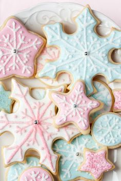 Pretty pastel cookies