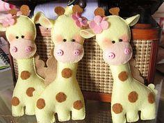 make giraffe felties