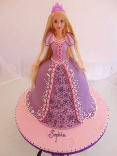 Tangled rapunzel doll cake